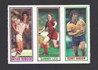TOPPS - FOOTBALLERS (BLUE, 1981) - #8/54/117 K SANSOM, SAMMY LEE, BRYAN ROBSON