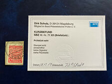 SBZ Mi.Nr. 71 XD (Briefstück) BPP geprüft gestempelt