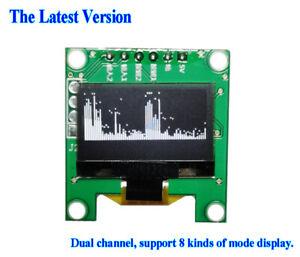 "0.96"" Blue OLED Music Spectrum Display Analyzer Audio Level Indicator VU Meter"