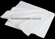 6 PIECES WHITE 100% COTTON EASY CARE 20X30 HOTEL AND HOME BATH MATS HEAVY DUTY
