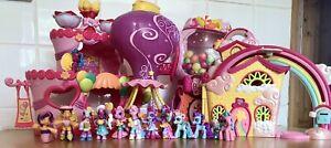 MLP My Little Pony Ponyville Playset Bundle Lot Hasbro Rainbowdash Gumball Etc