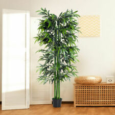 Outsunny 6ft Artificial Bamboo Tree Plant Greenary for Home or Office In a Pot - UK844-1960331