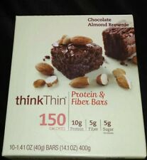 Think Thin Lean- Chocolate Almond Brownie - 10 Bars - 40g Bars