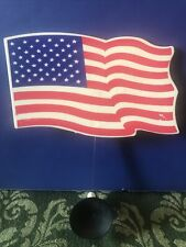 """Vintage Car Window 6"""" American Flag Waiver Barjan Suction Mount Made In USA"""