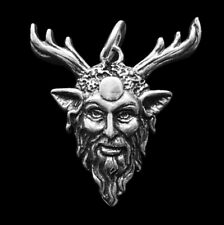 STERLING SILVER CERNUNNOS PENDANT Celtic Pagan Horned God of the Forest + POUCH