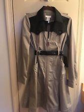 Vintage Diesel Zipper Front, Belted Coat Dress Khaki & Black. Fits Small To Med