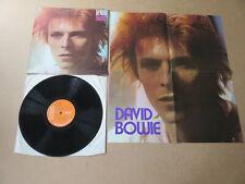 DAVID BOWIE Space Oddity ORIGINAL 1973 BILBO 2E UK PRESSING LP & POSTER LSP4813