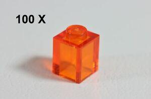 LEGO® Trans Orange Brick 1 x 1 [100 Pieces] ID 3005