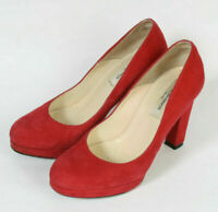 LK Bennett Palermo Suede Platform Court Shoes 'Scarlet' UK 3 EU 36