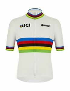 Official UCI World Champion Men's Short Sleeve Cycling Jersey Made in Italy