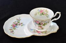 ROYAL ALBERT Bone China England MOSS ROSE Set Cup & Dessert Plate