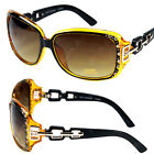 New DG Eyewear Womens Rhinestones Square Wrap Sunglasses Designer Fashion Shades