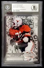 "EARL CAMPBELL Signed 2012 Fleer ""TEXAS LONGHORNS"" Beckett SLABBED BAS"