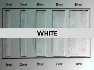 Quality White Colour Organza Ribbon 6, 10, 19,25, 38mm Width, Various Lengths