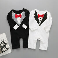 US Newborn Kid Baby Boy Formal Clothes Jumpsuit Romper Bodysuit Playsuit Outfits