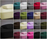 Thermal Flannelette 100% Brushed Turkish Cotton Fitted, Flat Bed Sheets Pillow