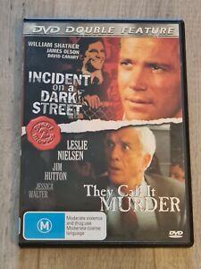 Incident on a Dark Street & They Call It Murder DVD Region 4 FAST POST