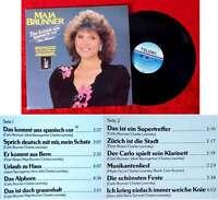 LP Maja Brunner: Das kommt uns spanisch vor (Telded 626719 AS) D 1987