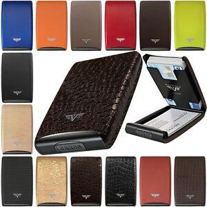 TRU VIRTU Leather Aluminium Credit Card Case - Business Cards Ec Purse
