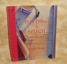 Building a Speech by Metcalf (1994, Paperback)