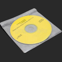 100 pcs Clear CD DVD DISC Cover Plastic Storage Case Bags Sleeve Holder Wrap New