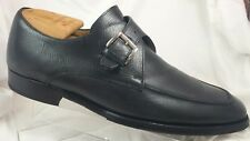 Cole Haan Collection Italy Nike Air Black Leather Monk Strap Dress Shoes Men 10