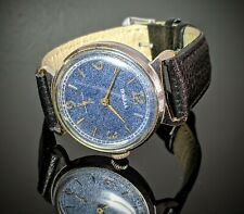 Vintage POBEDA Blue Dial USSR watch Hand Winding