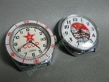Vintage USSR Soviet Union Watch Head Pair Craba CCCP & Slava Admiralty Nautical