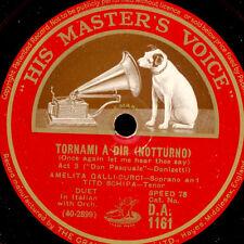 """AMELITA GALLI-CURCI & TITO SCHIPA  """"Don Pasquale"""" Tornami.../ """"Rigoletto""""  S8875"""