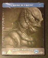 CREATURE FROM THE BLACK LAGOON 3D & Blu-Ray SteelBook Region Free 1954 New Rare!