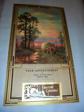 G. B. Fox, Tractor Hay Wagon, Moon, Windmill Farm, Salesman Sample Calendar 1939