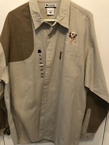 Mens XXL Columbia Hunting Lightweight Lab Embroidered Shooting Shirt NWT (N2)