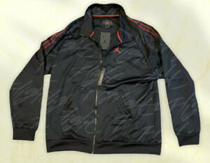 Men's Jordan Jumpman Tricot Flight Jacket Black Red AR4460-010 Men's Sz XL New