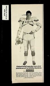 1969 Chapstick Bob Lilly Dallas Cowboys Football Vintage Print Ad 016145