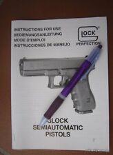 Glock 17 to Glock 36 manual, 2003, original , vintage, multilingual D E F GB
