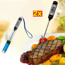 2pcs BBQ Digital Cooking Food Probe Meat Kitchen Selectable Sensor Thermometer