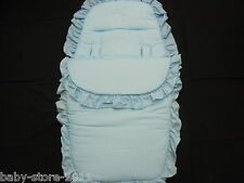 BEAUTIFUL. PRAM  COSYTOES  / FOOTMUFF  COLOUR  BABY  BLUE