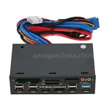 5.25'' inch USB 3.0 Hub Dashboard Media Front Panel Audio eSATA SATA Card Reader