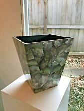 KIM SEYBERT NYC Capiz Shell Waste Paper Basket Black Lip Shell 11