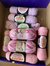 LOT Of Pink Yarn! King Cole, Coats & Clark Red Heart Baby, Red Heart Cotton, etc