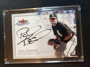 Paul Konerko - 2001 Fleer Autographics - on card signature