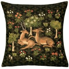 Belgian Tapestries  Kissenhülle, Zierkissenhülle 45 X 45 cm, Millefleurs Deers