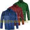 Lumberjack Check Warm Flannel Work Casual Mens Working Shirt Brushed Cotton M-XX