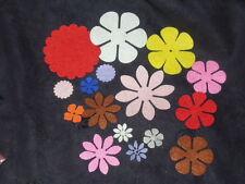 wool blend Felt Flower pattern DIY Shape Felt ~ 20pcs