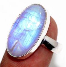 Purple Flashy Rainbow Moonstone 925 Silver Plated Ring us 8.5 Ethnic Gift GW