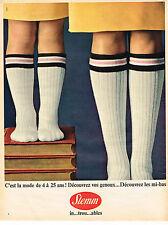 PUBLICITE ADVERTISING 044   1965   STEMM   chaussettes enfants