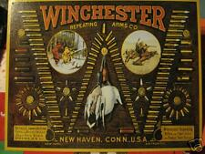 New Tin Sign- Winchester Repeating Arms- Bullets- Made in USA