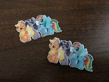 Pack Of 2 My Little Pony Twilight Rainbow Dash Flat Back Resin Embellishments