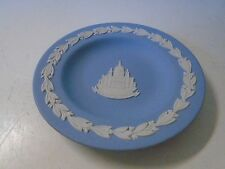 Wedgwood Jasperware Blue St Paul's Cathedral Small Plate Coaster Marked England