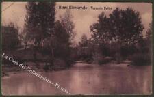 Piemonte. Nizza Monferrato, Asti. Torrente Belbo. Cartolina viaggiata nel 1913
